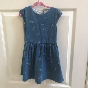 Carter's Denim Look Heart Cutout Dress 3T